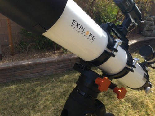Explore Scientific ED127 telescope and Celestron CGEM mount