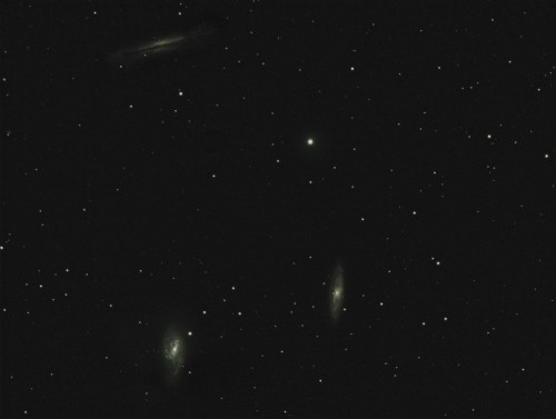 Leo Triplet. M65, M66, NCG3628. Scope: Explore Scientific ED127 Mount: Celestron CGEM Camera: SBIG STF-8300C 5x 5 minute exposures Henderson, NV