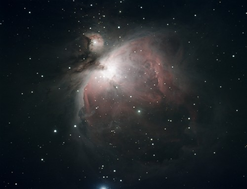 M42 photo details:  Explore Scientific ED127, Celestron CGEM, SBIG STF-8300C, 5x300 sec, 10x30 sec, 5x60sec, processed in Nebulosity & Photoshop.  Imaging and processing by Bryan Duke.