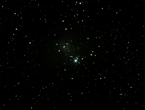 The limits of my backyard.  The Christmas Tree Cluster, NGC2264. Scope: Explore Scientific ED127 Mount: Celestron CGEM Camera: SBIG STF-8300C 6x 5 minute exposures Henderson, NV