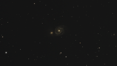 Messier 51 – The Whirlpool Galaxy Under a Full Moon
